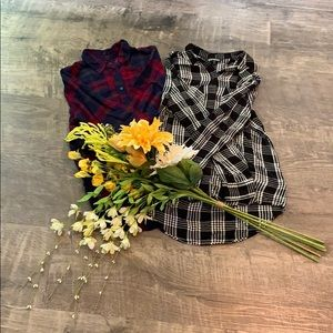 Bundle of 2 Express Flannel Shirts